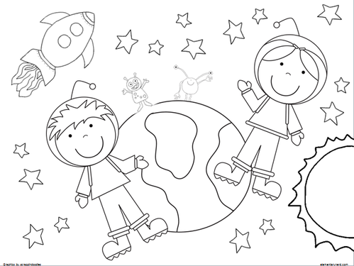 coloring pages for elementary school | Out of This World Coloring Sheets - Elementary Nerd